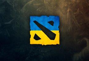 Обои dota 2, ukraine, logo, логотип, Украина, игра
