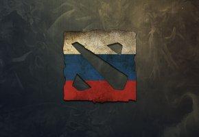 Обои dota 2, Россия, game, logo, russia, логотип, игра, дота 2