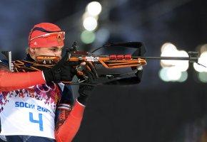 Обои Антон Шипулин, биатлон, Сочи 2014, XXII Зимние Олимпийские Игры, Россия