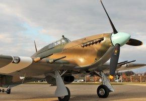 Обои Hurricane IIC, британский, одномоторный, истребитель