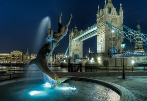 ���� london, tower bridge, ������, ������, england, uk, night