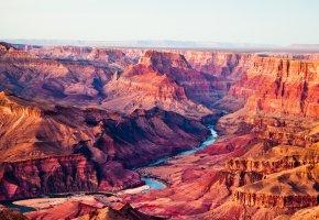 Обои Grand Canyon, Arizona, сша, небо, река, каньон, горы