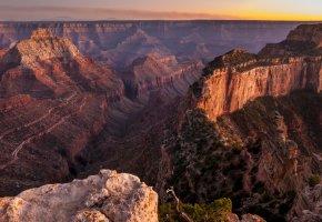 Обои пейзаж, горы, каньон, скалы, горизонт