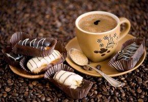 Обои кофе, чашка, еда, Anna Verdina