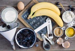 Обои еда, разное, бананы, ягоды
