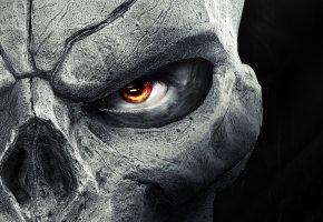 Обои darksiders 2, маска, cмерть, глаз