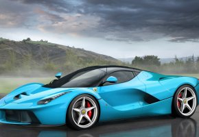 Обои Ferrari, LaFerrari, Tiffany Blue, Феррари, ЛаФеррари, Суперкар