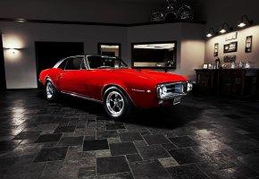 Обои Pontiac, Firebird, 1967, muscle car, понтиак, фаербёрд, мускул кар