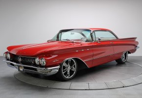 Обои Buick LeSabre, ретро, автомобиль, красный, 1960г