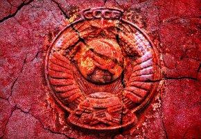 Обои Стиль, текстуры, фон, СССР, герб