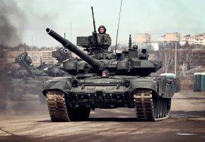 Обои боевой, танк, Т-90А, репетиция, парад победы, 9 мая