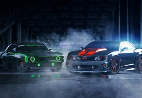 ���� chevrolet camaro, muscle car, tuning, ��������, ������