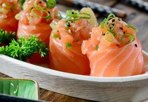 Обои японская кухня, суши, роллы, рыба, Japanese cuisine, sushi, rolls, fish