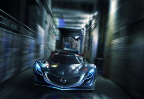 Обои Mazda, Furai, Concept, Car, Мазда, Фураи, Speed, Front