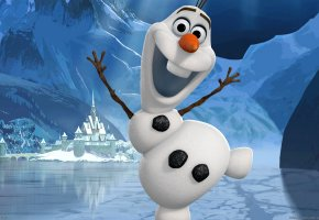 Обои Frozen, Walt Disney, Olaf, холодное сердце, снеговик