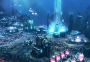 Обои anno 2070 deep ocean, related desings, blue byte, ubisoft