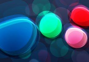 Обои 3d, абстракция, векторная графика, круги, цвета