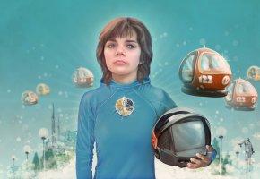 Обои гостья из будущего, алиса селезнёва, шлем, космопорт