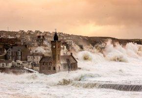 Обои Porthleven, Англия, Великобритания, шторм