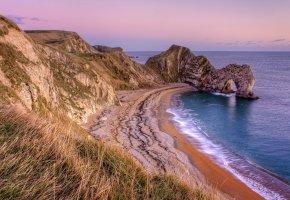 Обои побережье, скала, пляж, арка, море
