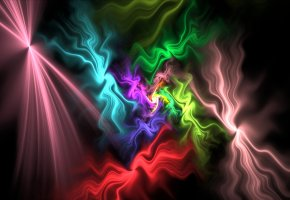 Обои свет, цвет, узор, фрактал, газ, дым
