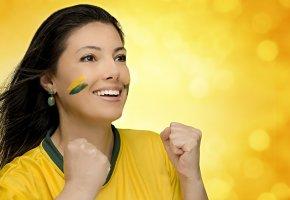 Обои Brasil, FIFA, Футбол, Болельщица