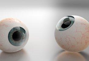 Обои глаза, зрачки, шары, 3D, рендеринг