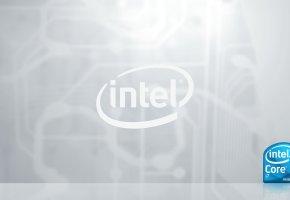 Обои интел, коре, и7, intel, core, i7, процессор, логотип