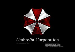 Обои resident evil, umbrella, игра, зонтик, емблема