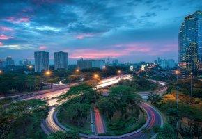 Обои столица, джакарта, дома, мегаполис, индонезия