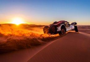 Обои buggy, dakar, дакар, rally, ралли, авто, машина, спорт, песок, закат