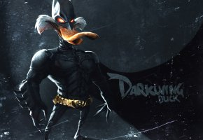 Обои Dark Knight, Duck, suit, mask, darkwing, утка