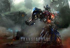 Обои Трансформеры 4, Эпоха истребления, Прайм, робот, война