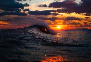 Обои море, океан, волны, небо, облака