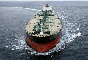 Обои судно, танкер, грузовое, волны