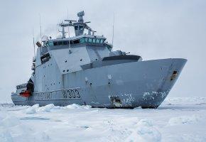 Обои Norway, Норвегия, ледокол, патрульное судно, льды
