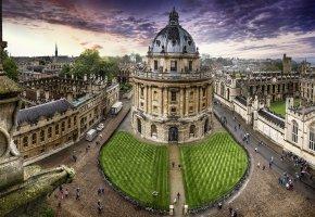 Обои Великобритания, Bodleian Library, Oxford, United Kingdom, библиотека имени  ...