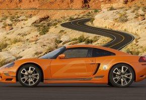 Обои dodge, машины, тачки, дорога, пустыня