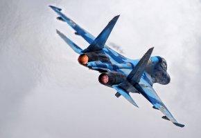 Обои Су-27, многоцелевой, истребитель, сопло