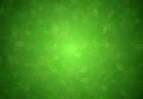 Обои текстура, Зеленое, цветочная, фон, листики