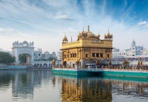 Обои Индия, озеро, город, арка