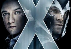 Обои Люди икс: Дни минувшего будущего, магнето, профессор икс, Фасбендр, Макковой
