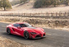 Обои Toyota, красный, тойота, авто, спорткар, дорога